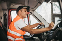 Male Courier Delivery Packages - Truck Driving Lessons